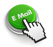 E mail keyboard concept 3d illustration Royalty Free Stock Image
