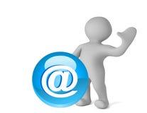E-mail knoop Royalty-vrije Stock Afbeeldingen