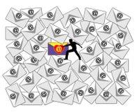 E-Mail-Kontrolle Stockfotos
