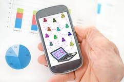 E-Mail-Konzept auf einem Smartphone Stockbild