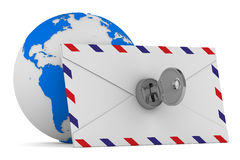 E-Mail-Konzept auf weißem Hintergrund Stockfotografie