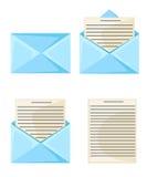 E-Mail-Konzept Neu, Vektorillustration der eingehenden Nachricht im flachen Artdesign lokalisiert auf weißem Hintergrund vektor abbildung