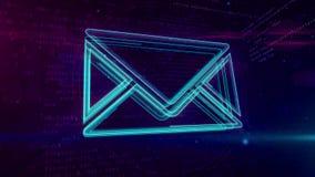 E-Mail - Konzeptschleife der digitalen Kommunikationen stock footage