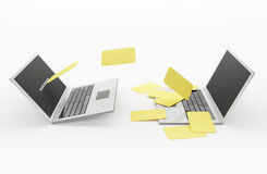 E - mail. Laptops Stock Images