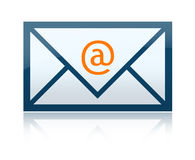 E-Mail letter. E-mail envelope letter with reflections that can easily be removed stock illustration