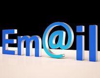 E-mail Letters Shows Correspondence on Web Stock Images