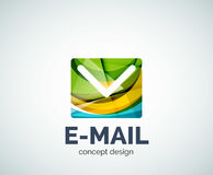E-mail logo business branding icon. Created with color overlapping elements. Glossy abstract geometric style, single logotype Royalty Free Stock Image