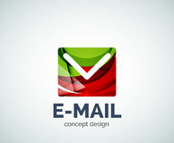 E-mail logo business branding icon. Created with color overlapping elements. Glossy abstract geometric style, single logotype Royalty Free Stock Photo