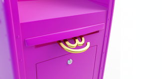 E-mail mailbox pink Royalty Free Stock Photos