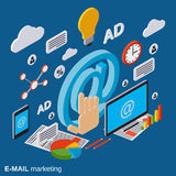 E-mail marketing, advertising, promotion vector concept. E-mail marketing, advertising, promotion flat isometric vector concept illustration royalty free illustration