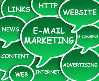 E-mail marketing cloud Stock Photography