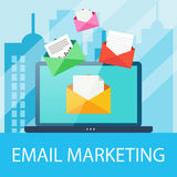 E-mail marketing concept Royalty-vrije Stock Afbeelding