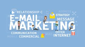E-mail marketing concept. Royalty Free Stock Photo
