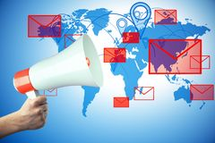 E-mail marketing concept Stock Photos
