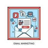 E-mail marketing concept Royalty Free Stock Photo