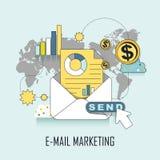 E-mail marketing concept Stock Image