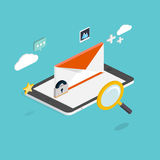 E-mail marketing concepts. Mobile marketing, email advertising, Royalty Free Stock Image