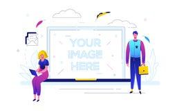 E-mail marketing - de kleurrijke vlakke illustratie van de ontwerpstijl royalty-vrije illustratie