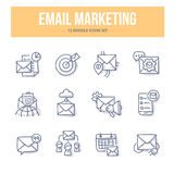 E-Mail Marketing Doodle Icons Stock Photo