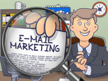 E-mail Marketing door Lens De stijl van de krabbel royalty-vrije illustratie