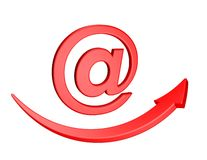 E-mail marketing electronic mail contact concept 3d render Stock Photography