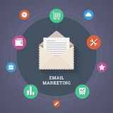 E-mail marketing illustratie. Royalty-vrije Stock Afbeelding