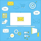 E-mail marketing illustratie royalty-vrije illustratie