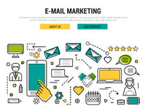 E-mail marketing line concept Stock Image