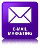 E-mail marketing purple square button Stock Photography