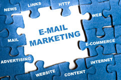 E-mail marketing puzzle Stock Image