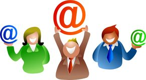 E-mail mensen Royalty-vrije Stock Fotografie