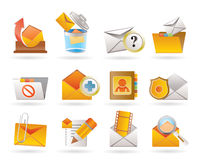 E-mail and Message Icons Stock Photography