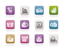 E-mail and Message Icons. Icon set Stock Photography
