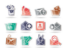 E-mail and Message Icons. Icon set Royalty Free Stock Images