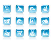 E-mail and Message Icons Royalty Free Stock Image