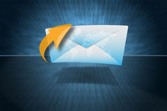 E-Mail or Message Symbol. An envelop as a E-Mail or Message Symbol Stock Photo