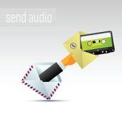E-mail met muziek Royalty-vrije Stock Afbeelding