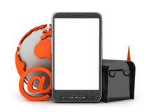 E-mail in mobile phone Stock Photos
