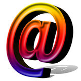 E-Mail multicolor. 3D E-Mail Icon for your computer Stock Image