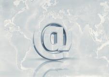 e - mail na całym świecie Zdjęcia Stock