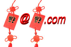 E-mail in New Year. An e-mail from the Chinese New Year blessing Royalty Free Stock Image