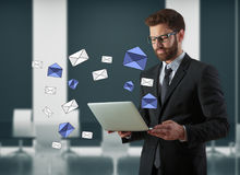E-Mail-Newsletterkonzept Lizenzfreie Stockbilder