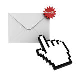 E mail notification new message. E mail notification new email message in the inbox concept royalty free illustration