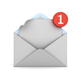 E mail notification one new email message in the inbox concept Royalty Free Stock Photography