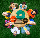 E-mail Online Digital Instant Messaging Concept Royalty Free Stock Photo