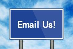 E-mail ons verkeersteken Royalty-vrije Stock Fotografie