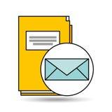 E-Mail-Ordnerverzeichnis-Buchdesign Stockfoto