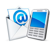 E-mail and phone vector illustration
