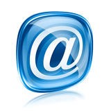 E-mail pictogram blauw glas, Stock Fotografie