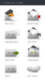 E-mail Pictogrammen Stock Afbeeldingen